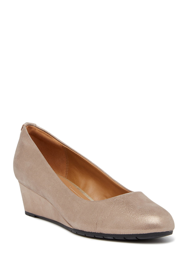 Incaltaminte Femei Clarks Vendra Bloom Wedge Pump - Multiple Widths Available CHAMPAGNE