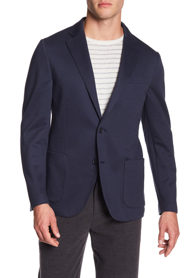 Imbracaminte Barbati 14th Union Knit Notch Lapel Blazer NAVY