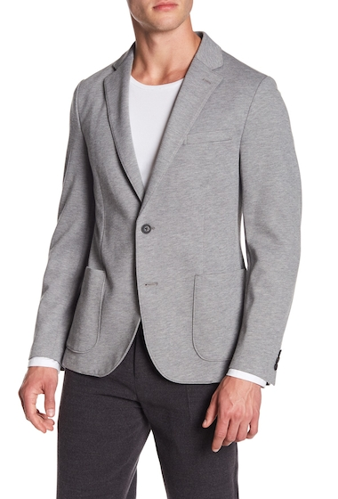 Imbracaminte Barbati 14th Union Knit Notch Lapel Blazer LIGHT GREY