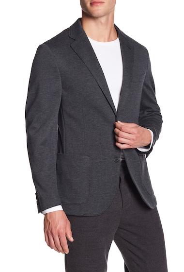 Imbracaminte Barbati 14th Union Knit Notch Lapel Blazer CHARCOAL