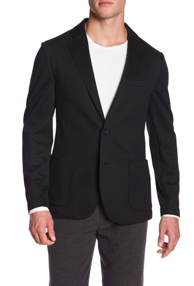 Imbracaminte Barbati 14th Union Knit Notch Lapel Blazer BLACK