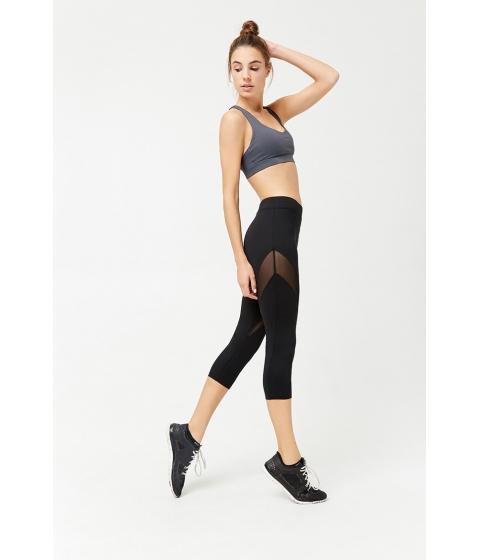 Imbracaminte Femei Forever21 Active Mesh Capri Leggings BLACK