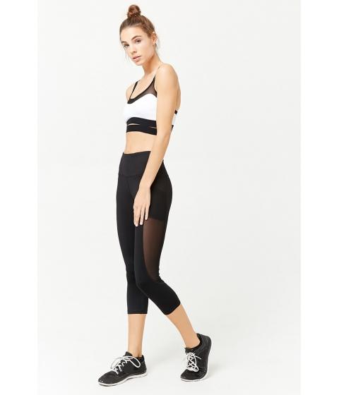 Imbracaminte Femei Forever21 Active Mesh Panel Capri Leggings BLACK