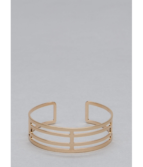 Bijuterii Femei CheapChic Let Me Vent Cut-out Caged Cuff Gold