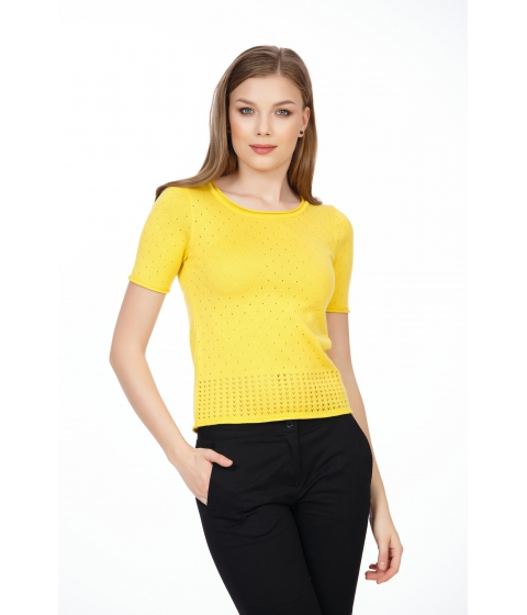 Imbracaminte Femei Be You Bluza galbena cu ajour pe corp Multicolor