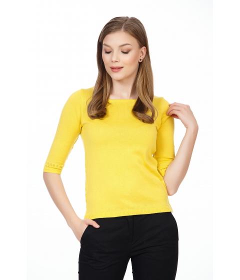 Imbracaminte Femei Be You Bluza galbena cu nasturi pe spate Multicolor