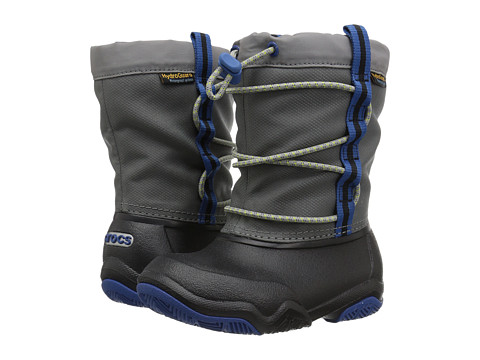 Incaltaminte Fete Crocs Swiftwater Waterproof Boot (ToddlerLittle Kid) BlackBlue Jean