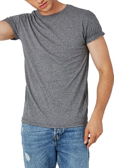Imbracaminte Barbati TOPMAN Muscle Fit Roll Sleeve T-Shirt GREY