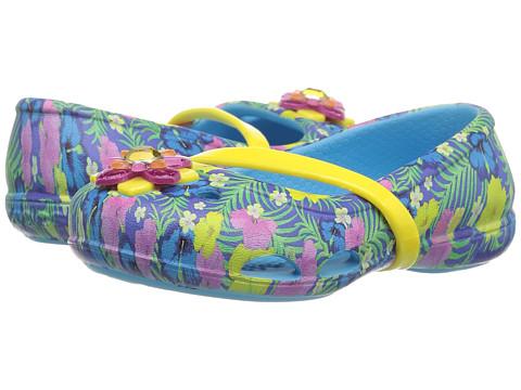Incaltaminte Fete Crocs Lina Graphic Flat (ToddlerLittle Kid) Electric Blue