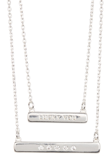 Bijuterii Femei Lucky Brand Lucky You Layer Necklace MEDIUM GRE