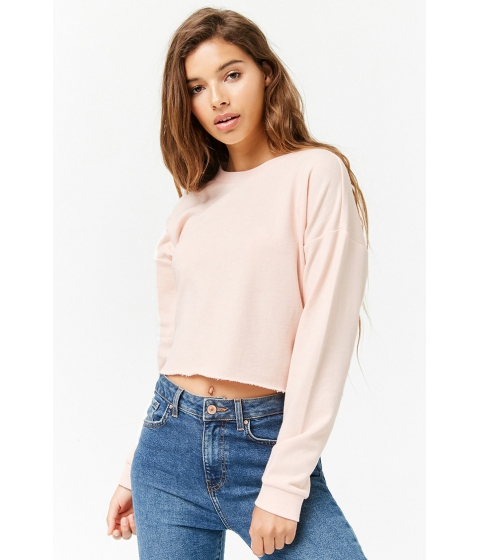 Imbracaminte Femei Forever21 Raw-Cut French Terry Sweatshirt BLUSH