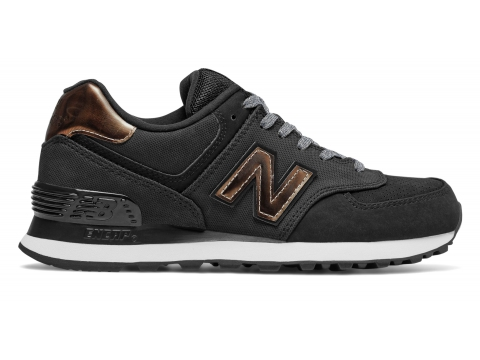 Incaltaminte Femei New Balance Womens 574 Varsity Sport Black with Brown