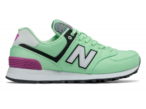 Incaltaminte Femei New Balance Womens 574 Art School Green with Pink