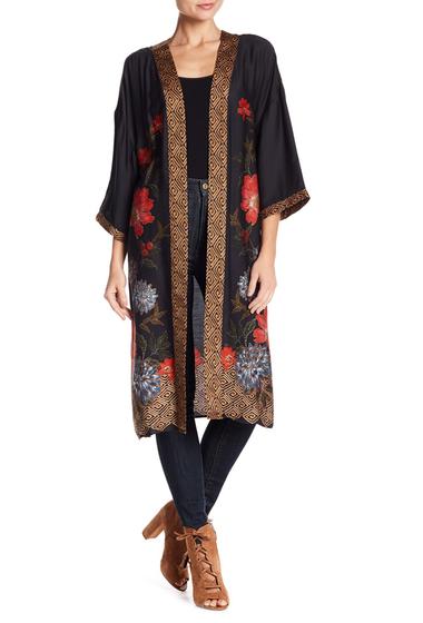 Imbracaminte Femei DR2 by Daniel Rainn Long Printed Kimono D416 BLACK