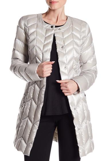 Imbracaminte Femei Via Spiga Chevron Puffer Jacket PLATINUM