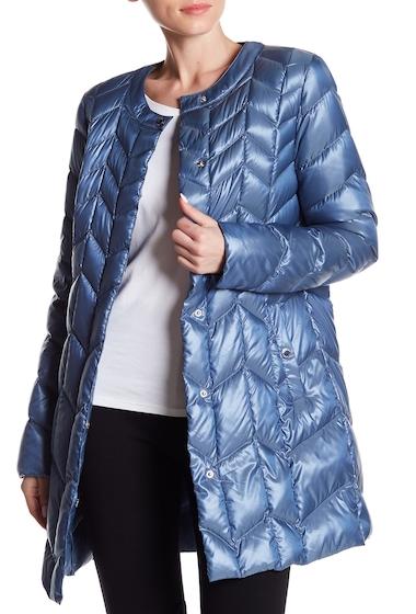 Imbracaminte Femei Via Spiga Chevron Puffer Jacket DENIM BLUE