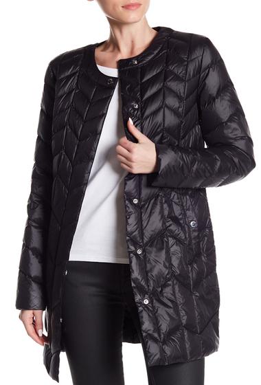 Imbracaminte Femei Via Spiga Chevron Puffer Jacket BLACK