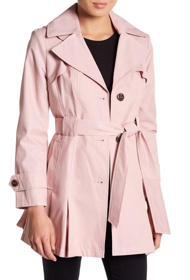 Imbracaminte Femei Via Spiga Solid Waist Tie Raincoat Petite PEONY