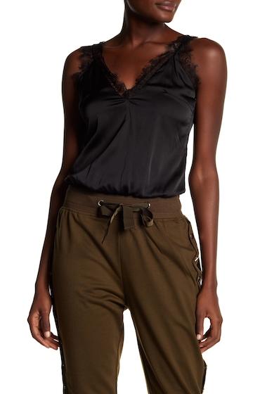 Imbracaminte Femei Tea Cup Lace And Satin Bodysuit BLACK