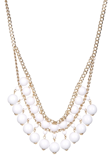 Bijuterii Femei 14th Union Double Row Beaded Chain Necklace WHITEGOLD