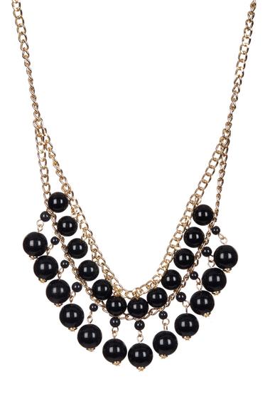 Bijuterii Femei 14th Union Double Row Beaded Chain Necklace BLACKGOLD
