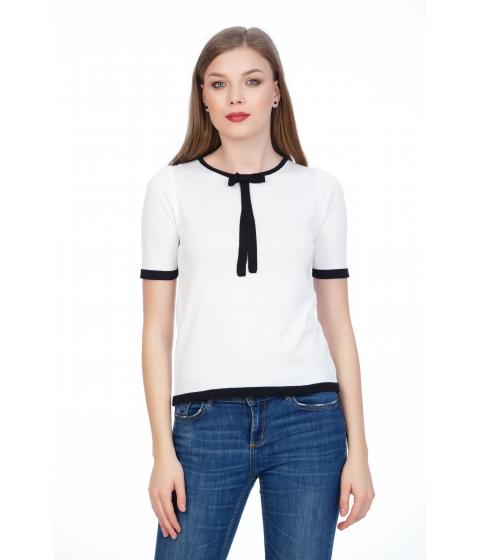 Imbracaminte Femei Be You Bluza cu fundita alb negru Multicolor