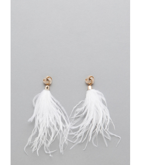 Bijuterii Femei CheapChic Wisp Me Away Feather Tassel Earrings White