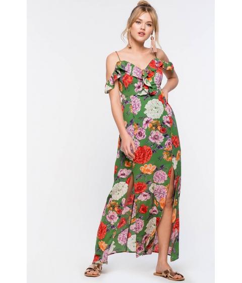 Imbracaminte Femei CheapChic Gardenia Ruffle Maxi Green Print