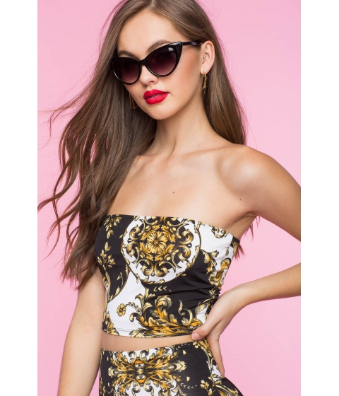 Imbracaminte Femei CheapChic Tess Chain Top Black Print