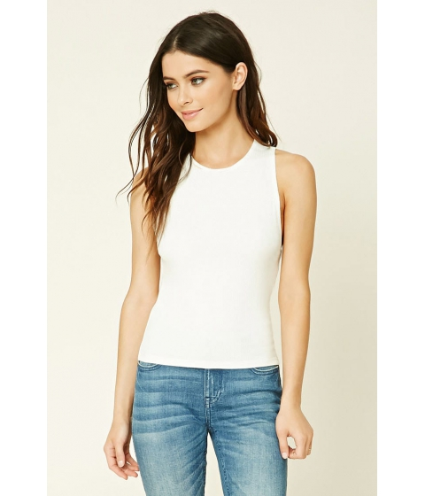 Imbracaminte Femei Forever21 Ribbed Knit Tank IVORY