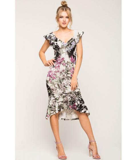 Imbracaminte Femei CheapChic Floral Mermaid Hem Dress White Print