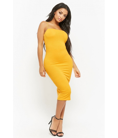 Imbracaminte Femei Forever21 Ribbed Cami Dress YELLOW