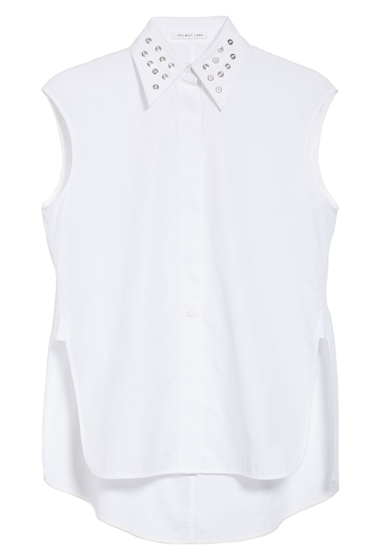 Imbracaminte Femei Helmut Lang Eyelet Cotton Poplin Shirt BRIGHT WHITE