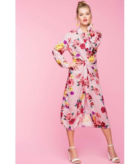 Imbracaminte Femei CheapChic Amelia Knotty Shirtdress FuchsiaPink Print