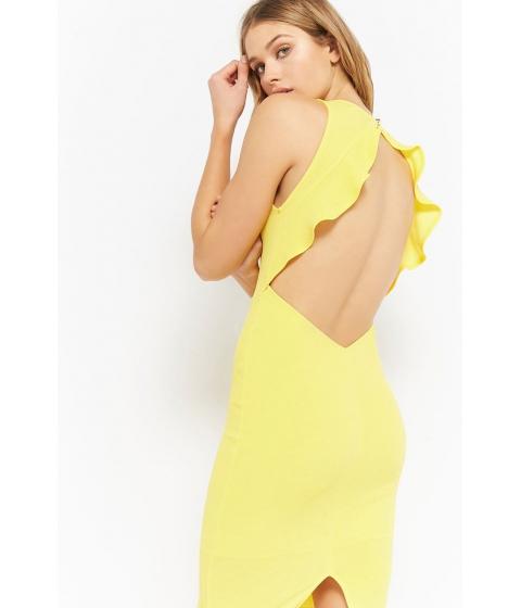 Imbracaminte Femei Forever21 Crepe Cutout Mini Dress YELLOW