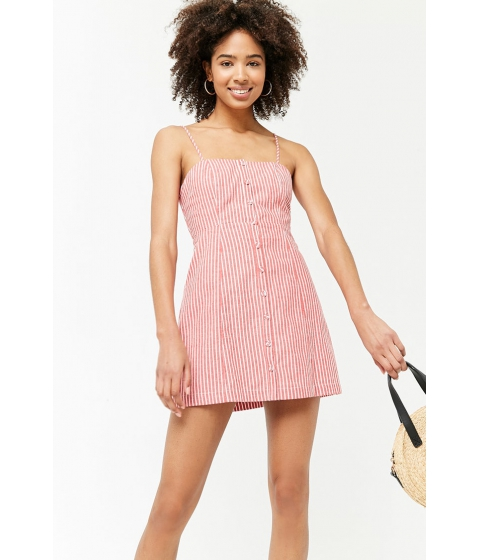 Imbracaminte Femei Forever21 Striped Cami Mini Dress REDWHITE