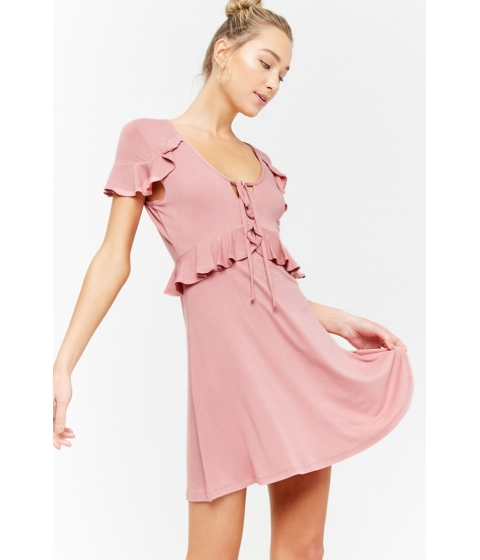 Imbracaminte Femei Forever21 Ruffle Waist Dress MAUVE