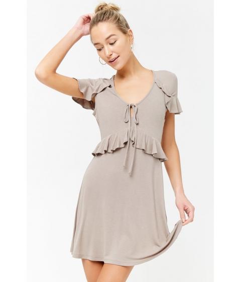 Imbracaminte Femei Forever21 Ruffle Waist Dress TAUPE