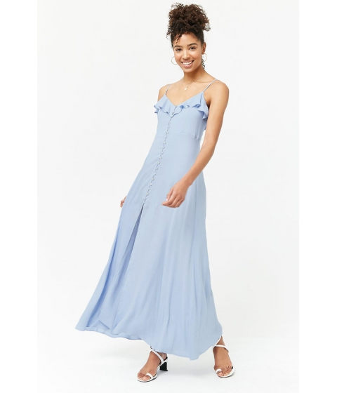 Imbracaminte Femei Forever21 Cami Button-Front Maxi Dress PERIWINKLE