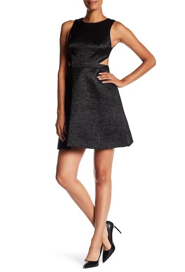 Imbracaminte Femei Halston Heritage Jacquard Cutout Fit Flare Dress BLACK