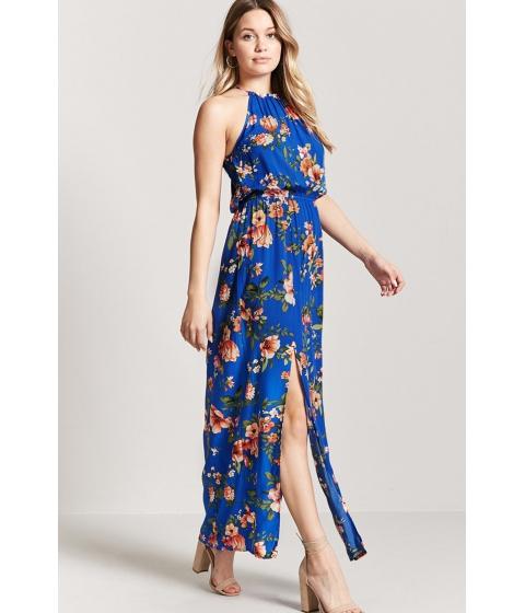 Imbracaminte Femei Forever21 Floral Print Maxi Dress NAVYORANGE