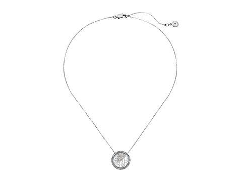 Bijuterii Femei Michael Kors Disc Pendant Necklace SilverMother-of-PearlClear