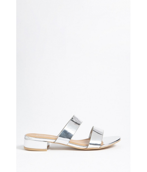 Incaltaminte Femei Forever21 Metallic Slide Sandals SILVER
