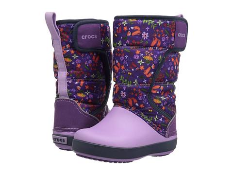 Incaltaminte Fete Crocs Lodge Point Graphic Snow Boot (ToddlerLittle Kid) UltravioletIris