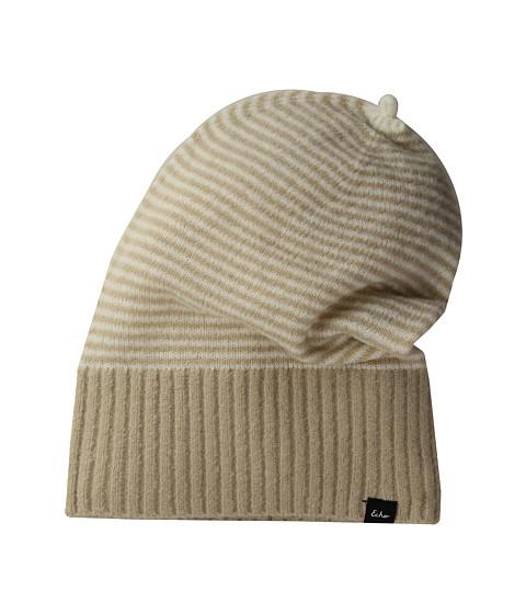 Accesorii Femei Echo Design Soft Stretch Mini Stripe Hat Oatmeal