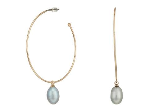 Bijuterii Femei Marc Jacobs Hoop with Fresh Water Pearl Drop Earrings Rose GoldPearl