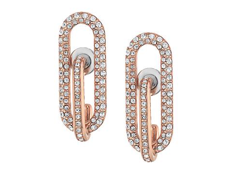 Bijuterii Femei Michael Kors Iconic Pave Link Earrings Rose Gold