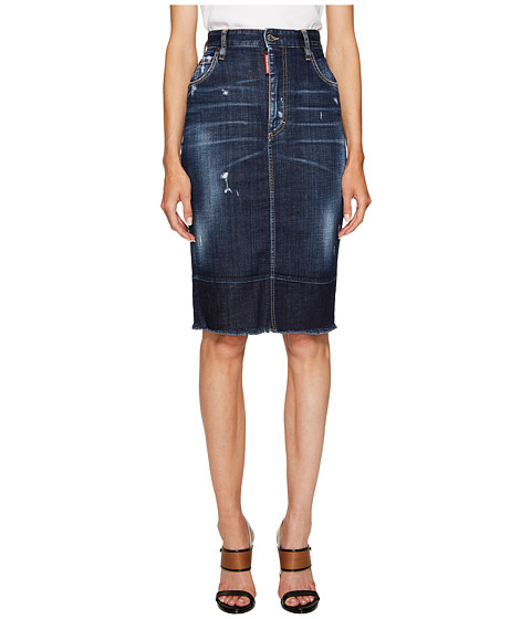 Imbracaminte Femei DSQUARED2 Best Blue Wash Dalma Long Skirt Blue