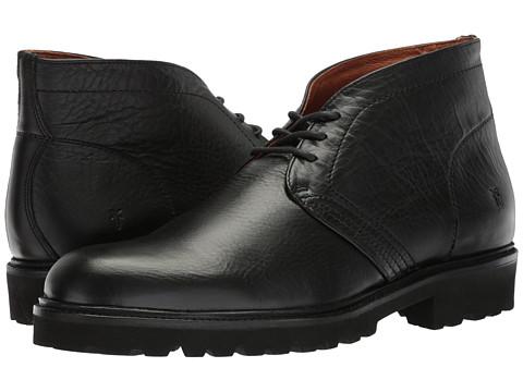 Incaltaminte Barbati Frye Edwin Chukka Black Tumbled Pull UpSoft Vintage Leather
