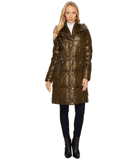 Imbracaminte Femei Marc New York by Andrew Marc Leigh 37quot Lacquer Puffer Coat Olive